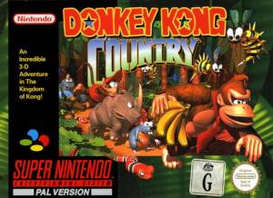 Donkey Kong Country SNES Cover